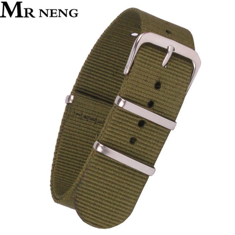 Army Military Nato Vintage Retro Nylon Watch 22 mm Green Fabric Woven Watchbands Strap Band Buckle Belt 12mm-24mm Accessories