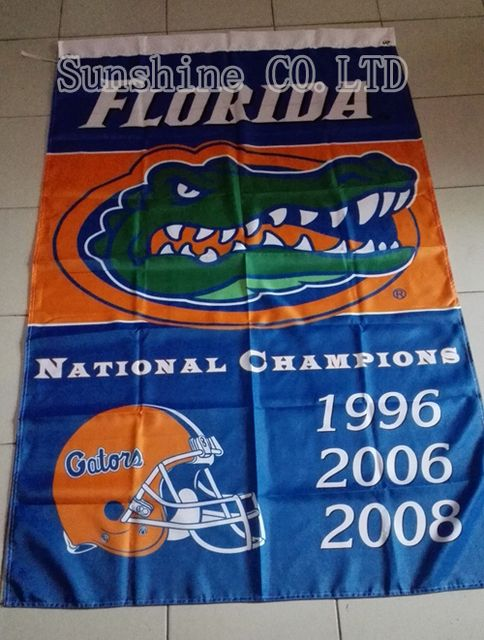 University of Florida Gators  3 Time National Champions Flag hot sell goods 3X5FT 150X90CM Banner brass metal holes FG08