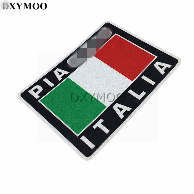 1PCS Motocross Helmet Bike Vinyl Italy Flag Car Reflective Sticker for DC Kenblock Hoonigan PIAGGIO ITALIA