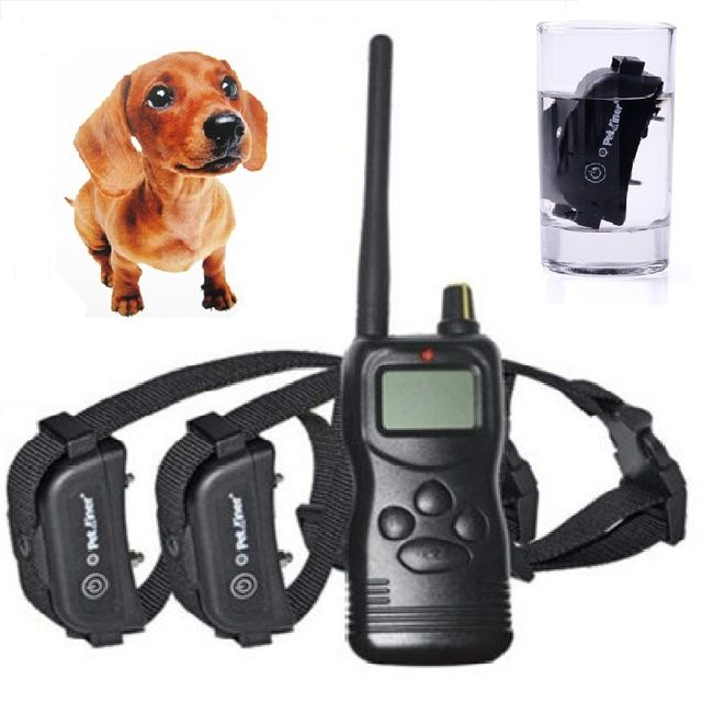 1000 Yards Remote Training E-collar Pet Dog Waterproof Training Receiver with Safe Shock Vibration Beep Training System 2 dogs
