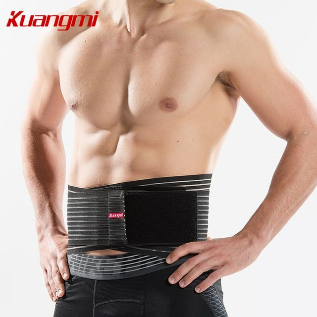 Kuangmi Waist Support Belt Lumbar/Waist Lower Back Brace Sports Gym Bodybuilding Weightlifting Belt Adjustable Straps Breathable