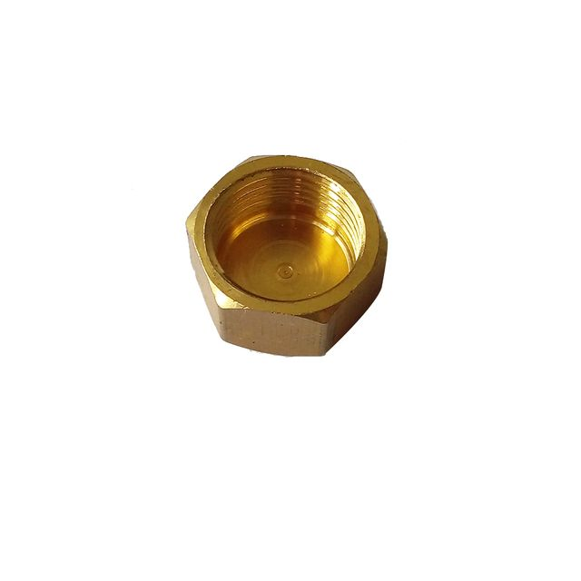 "1/8"" 1/4"" 3/8"" 1/2""  Female BSP Brass Pipe Fitting Hex Head Female Thread Cap"