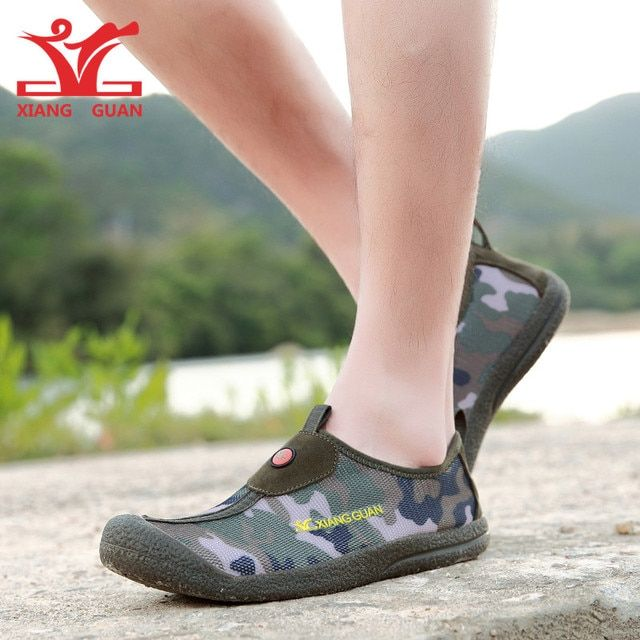 Brand XIANGGUAN Lovers Super Breathable SANDALS Camo Shoes Man Sneakers Women Outdoor Sport Shoes Original High Density Mesh