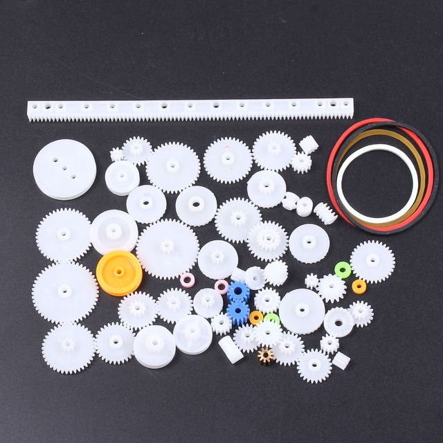 2016 Brand New 60 Kinds Plastic Gear Package Motor Gearbox Robot Model Accessories DIY Gears Assorted Kit