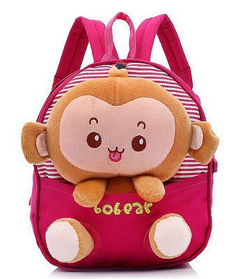 New Children Toddler Kid Cartoon Animal Backpack Schoolbag Shoulder Bag Rucksack