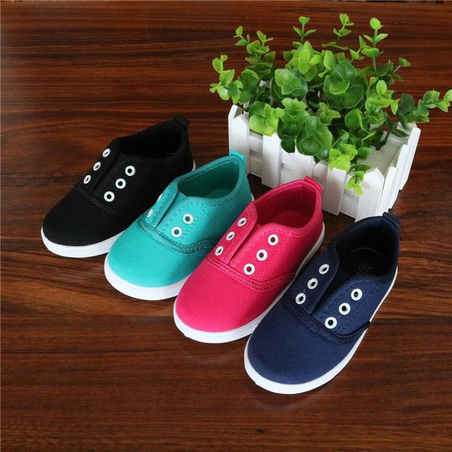 Apakowa 2017 Spring Kids Canvas Shoes Toddler Boys Girls Canvas Sneakers Children Canvas Shoes Girls Flats Slip on Casual Shoes