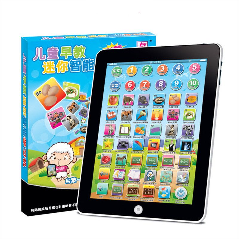 Mini tablet infantil Chinese change english language musical alphabet baby touch learning kids toy machine educational games toy