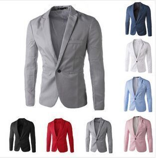2017 new arrival Men Suit Blazer Men Solid Color Fashionable Casual Blazer Masculino One Button Blazer Suits jacket