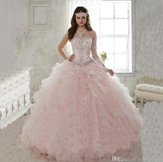 Shining Ball Gown Quinceanera Dresses 2017 Sweetheart Sexy Major Beading Floor Length Formal Dresses Organza Ruffles