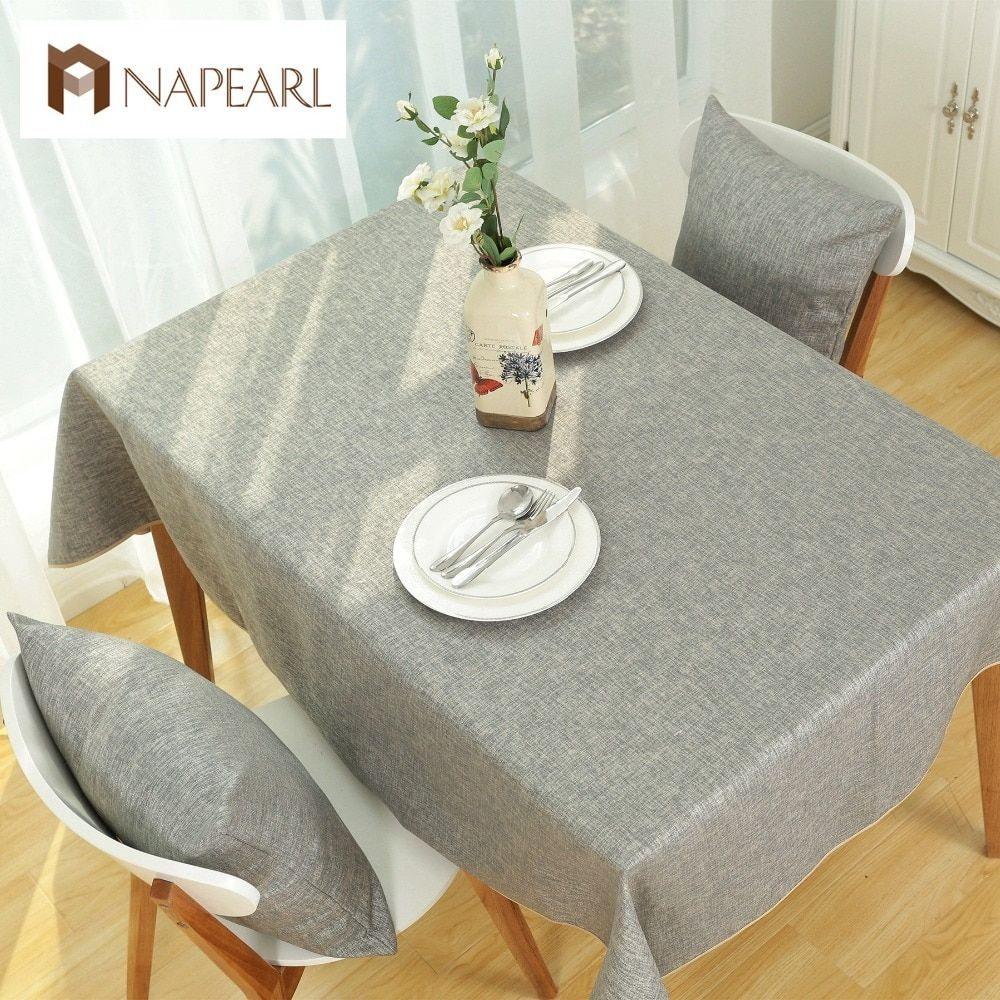 Solid color Green Linen Table Cloth Fashion Pastoral Style Cafe kitchen dining room Tables Cover