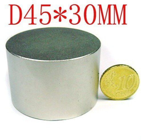 2 pcs 45mm x 30mm disc powerful magnet craft neodymium rare earth permanent strong n50 n52 45*30 45x30 free shipping