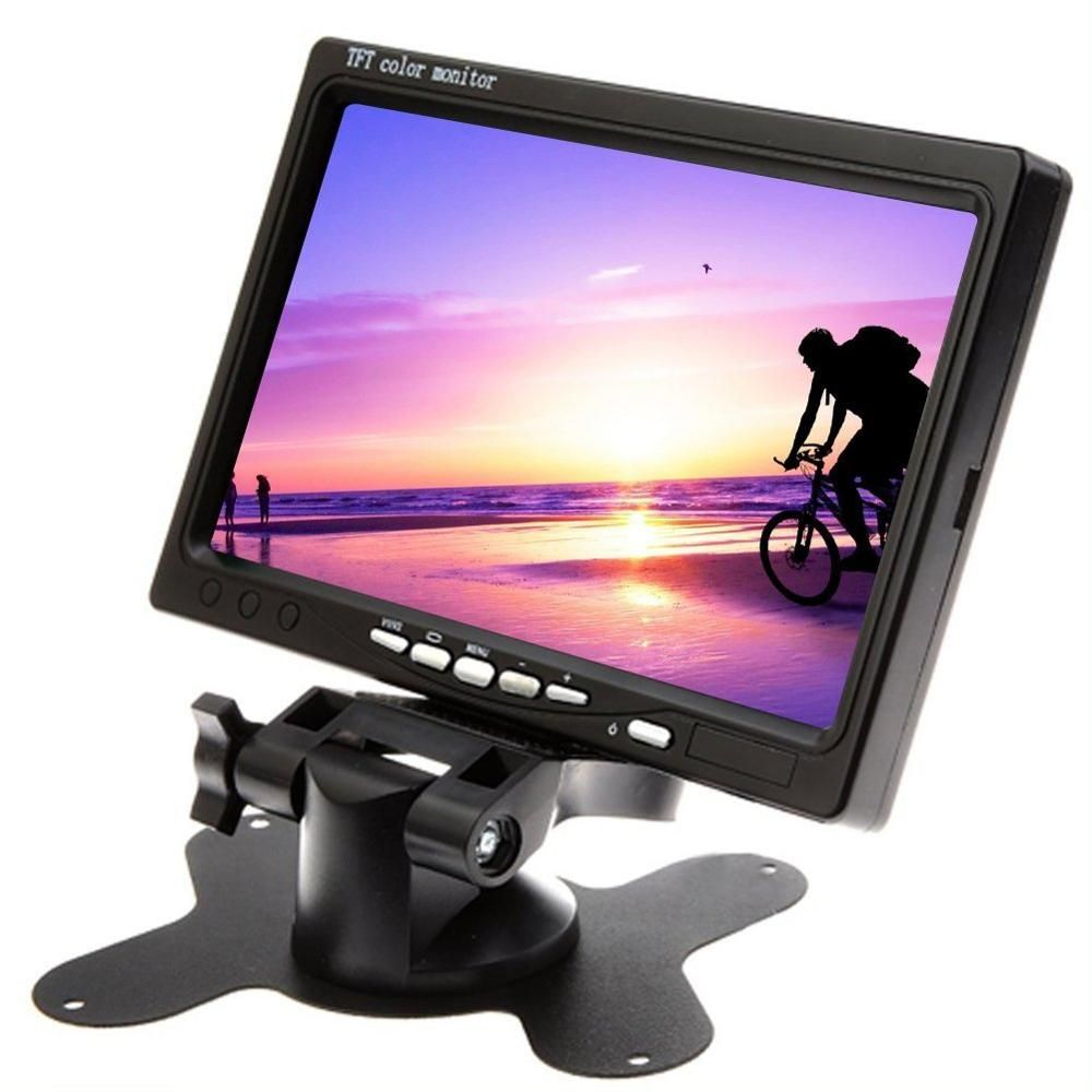 Car Monitor 7Inch Big TFT LCD Rotatable Screen car styling Rear view camera for parking Monitor Screen+Remote Control