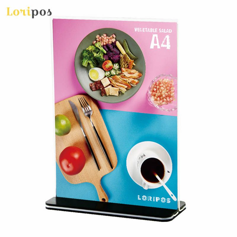 A4 Acrylic Photo Frame Desk Sign Display Stand Billboard Label Holder Menu Stand Price Tag display Advertising Poster Frame