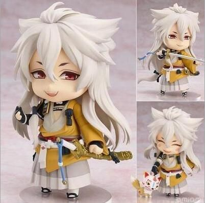 Touken Ranbu Online Action Figure Nendoroid Kogitsunemaru 525# Nendoroid 100MM Cute Version Kogitsunemaru Collectible Model Toys