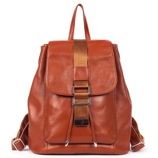 Genuine Leather Women Backpack  Drawstring Bag High Quality Ladies Shoulder Bags Stylish Backpacks for Teenage Girls Mochila