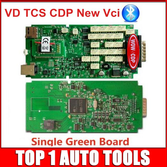 Single Green Board New vci Full Set with bluetooth SCANNER 2014.R3/ 2015.R1 VD TCS CDP Pro Plus with LED 3 IN1 Diagnostic tool