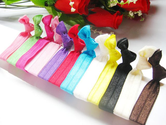 FOE hair tie Knot hair band  100pcs/lot