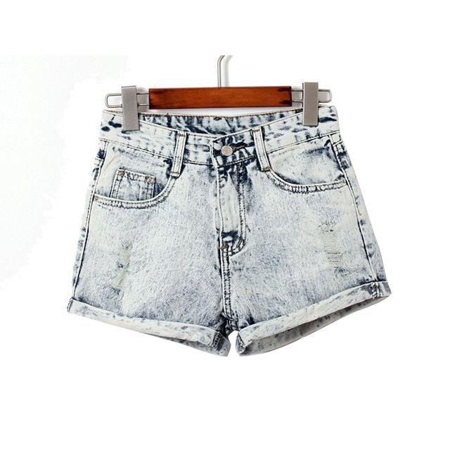 Curling hole denim shorts jeans denim shorts for women 2015 summer fashion new