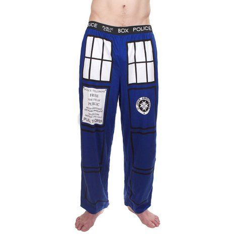 Doctor Dr. Who Tardis Royal Blue Lounge Pants Trousers
