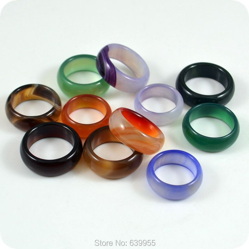 10x High Quality 8mm Band Rings Ethnic Fashion Men's Women's Jewelry