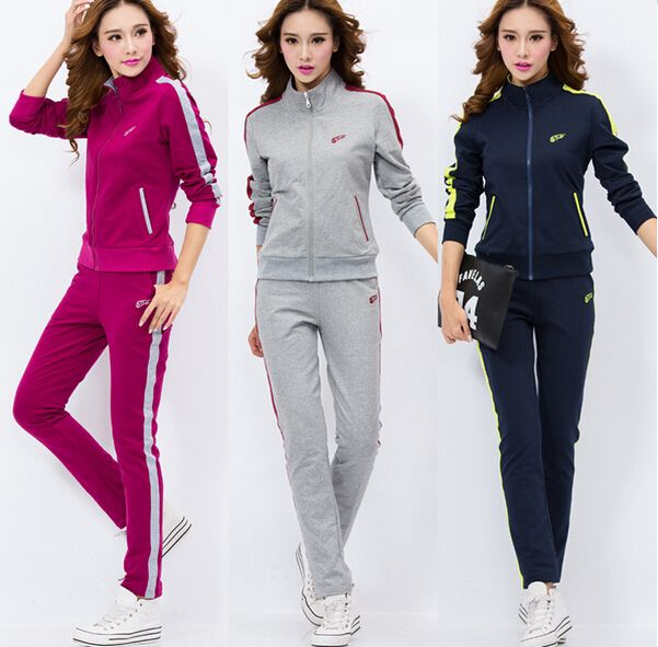 Survetement Femme Marque 2016 New Embroidery Hoodies Women Cotton Casual Tracksuit Plus Size Sportsuit Two Piece Set 3XL 4XL