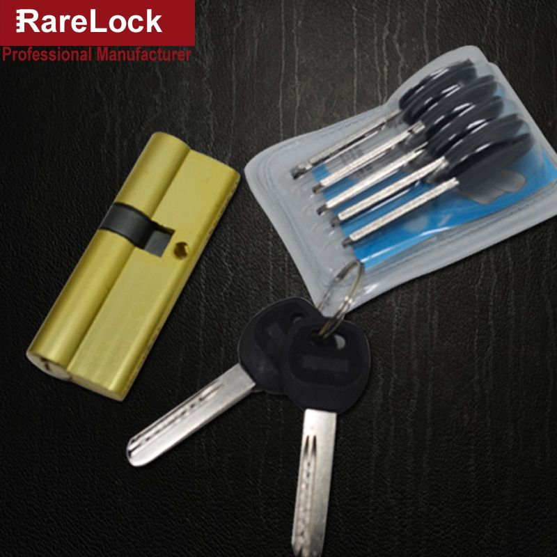 Rarelock Christmas Supplies Handle Door Lock Cylinder 9 Size 7keys for Bedroom Bathroom Interior Locks Door Hardware Accessory
