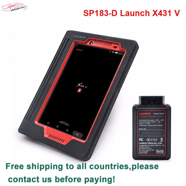 2019 100% Original Launch X431 V 8 inch pad Diagnostic Scanner With Bluetooth/Wifi launch x431 Pro3 Global Version DHL Free