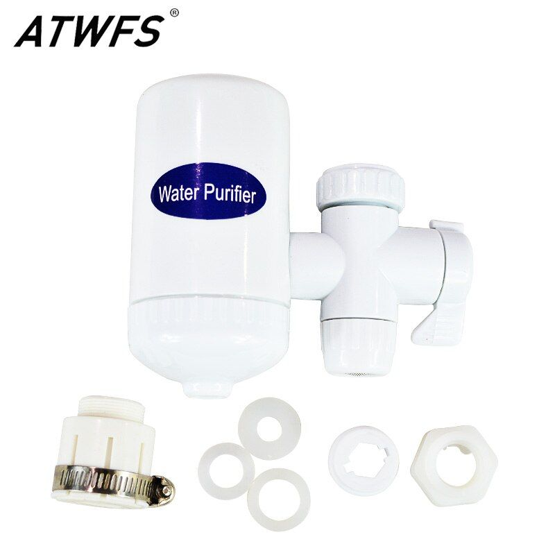 ATWFS Tap Faucet Ceramic Water Filter Alkaline Water Household Water Purifier Carbon Filter Energy Drink