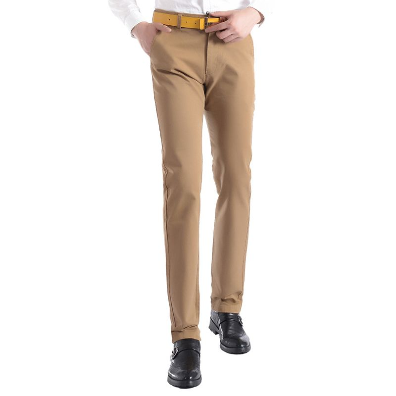 Free Shipping 2017 New Men Casual Straight Pants Slim Fit Trousers Khaki Cotton Chinos Pantalon Homme Plus Size 28-38 13M0251