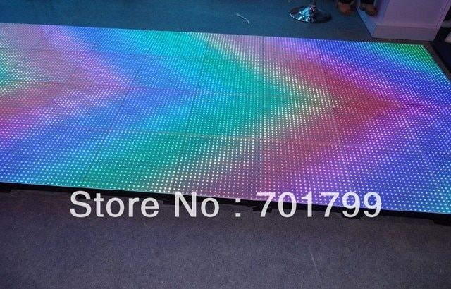 P25mm LED Video Dance Floor; 400pixels,dmx controlled (4*512channels);IP65