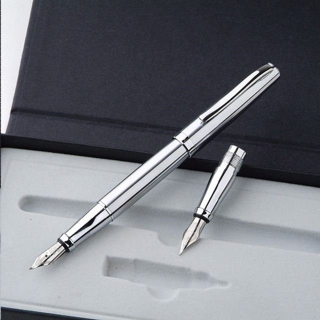 Duke 209 double head steel hopkinson fountain pen art pen double slider dual pen  FREE shipping