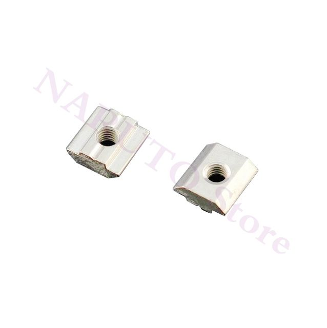 60pcs/lot 2020 aluminum profiles T Sliding nuts Block m4 or m5 Square Nuts Slot 6 for 2020 Aluminum Extrusion,3D Printer parts