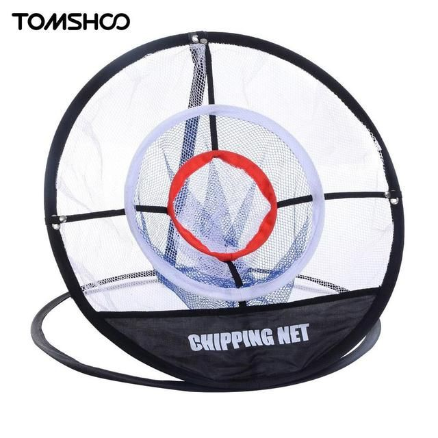 Portable Pop up Golf Chipping Pitching Practice Net Training Aid Tool Metal Memory Storage Easy Foldable with Carry Bag TOMSHOO
