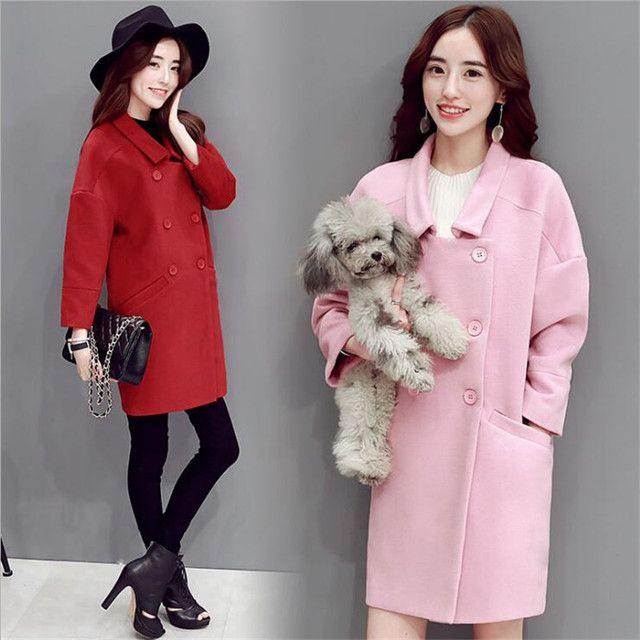 2016 Autumn Female New Europe United States Temperament Double-breasted Coat Fashion Women's Clothing Quality Tweed Coat
