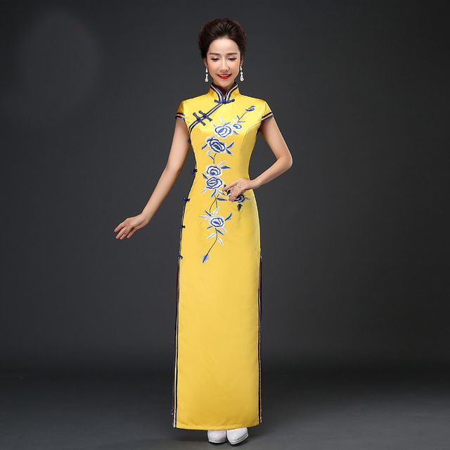 Women Long Red Chinese Traditional Dress Silm Bride Wedding Party Cheongsam Dress Female Ancient Qipao Clothing 89