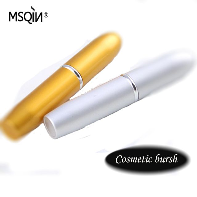 New Design Metalic Portable Retractable loose powder brush blush Foundation BB Cream Brushes Soft Face By random