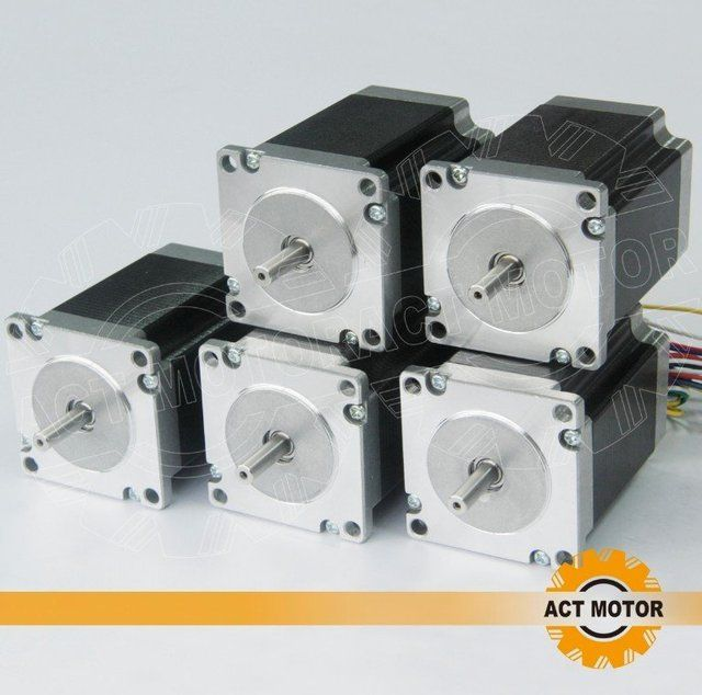 ACT  5pcs 4-lead   Nema 23  270OZ-IN  3A  76mm  hybrid stepper motor   CE,ROSH