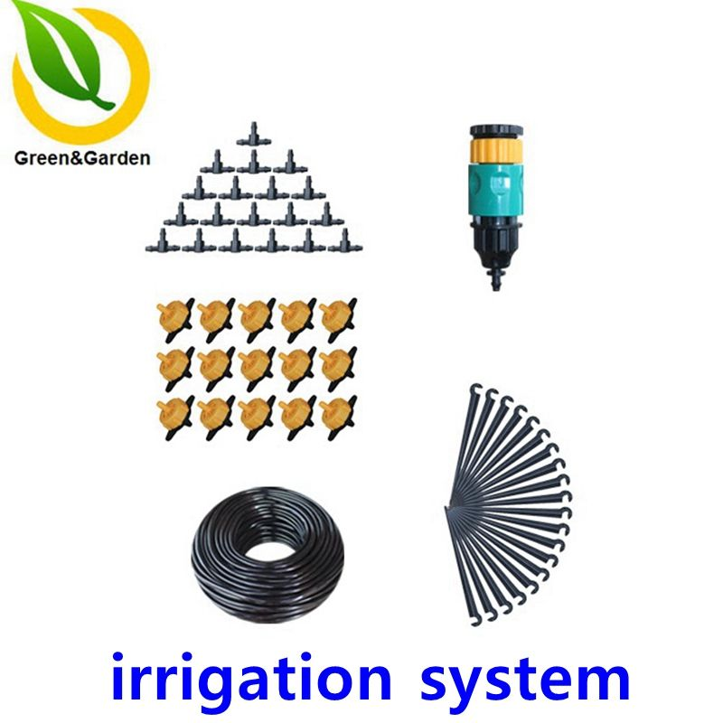 20m 4/7mm Drip Irrigation Suits Pressure Compensating Emitter Drip Irrigation System Water Sprinkler Watering Kits