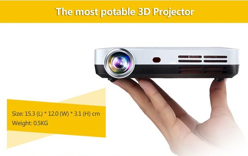 Mini LED 3D Hologram Home Theater Projector Z2 With Keystone 2D to 3D Conversion Supported