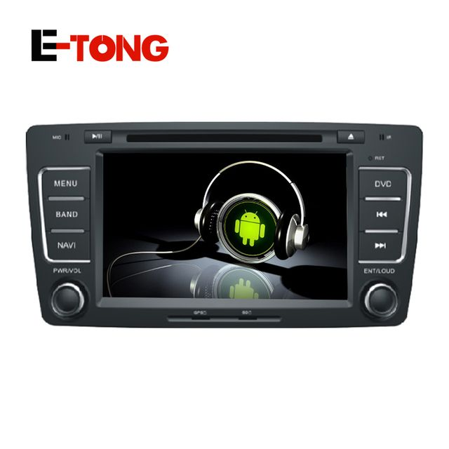 7inch Quad Core Pure Android 4.4 Car DVD Player For SKODA Octivia 2012 2013 With Auto Radio RDS 16G Bluetooth GPS Navi