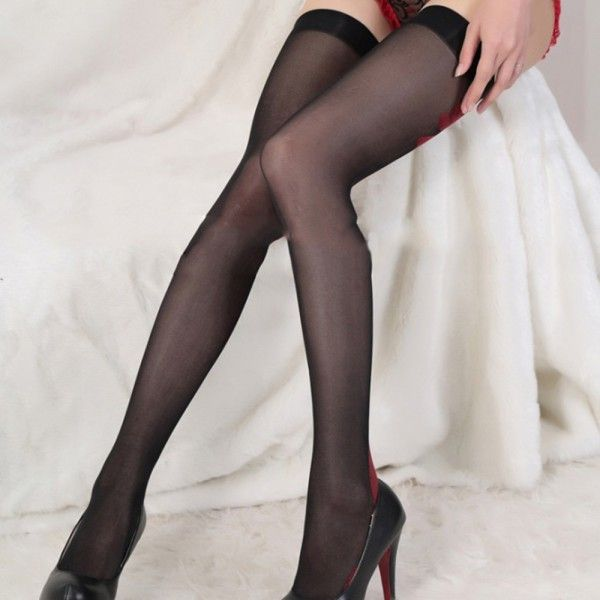 Ladies Sexy Bow Sheer Lace Top Thigh High Stockings Thigh Highs Hosiery Stay Up