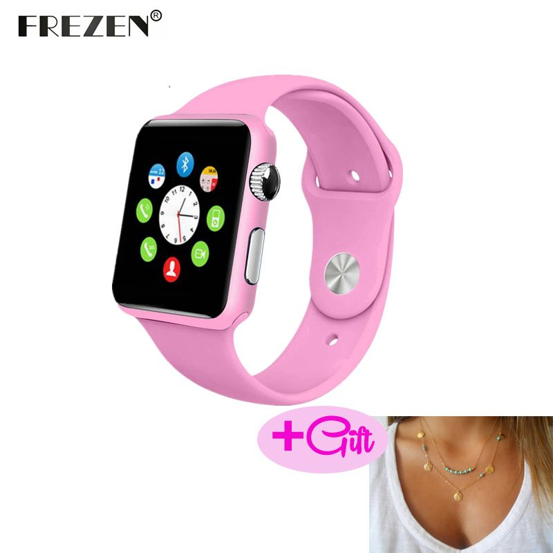 FREZEN Smart Watch G10A Paint Pink Bluetooth Wristwatch For Women Adult Answer Call Reloj Con SIM Card For Android PK GT08 DZ09