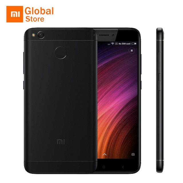 "Xiaomi Redmi 4X 4 X Prime 4GB RAM 64GB ROM Mobile Phone Snapdragon 435 Octa Core 5.0"" 4G LTE 13.0MP 4100mAh Fingerprint MIUI 8"