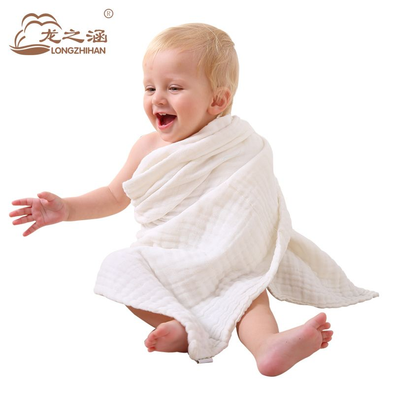 Baby Bath Towel 100% Cotton Absorbent Drying Bath New Born Baby Beach Towel Washcloth baby  gauze blanket Children washcloth