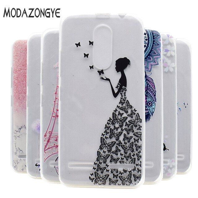 For Lenovo Vibe K6 Power Case 3D Flower Soft TPU Phone Case For Lenovo K6 Power Case Silicone Protective  Back Cover Skin