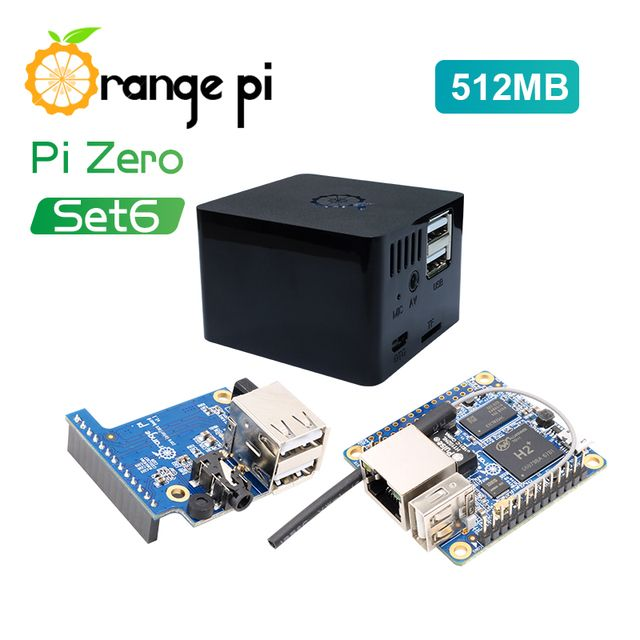 Orange Pi Zero Set 6:Orange Pi Zero 512MB+Expansion Board+Black Case development board beyond Raspberry Pi