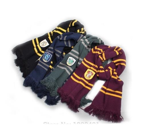 Free Shipping Scarves Ravenclaw Scarf Accessories Gryffindor Scarf Magic School Slytherin Scarves