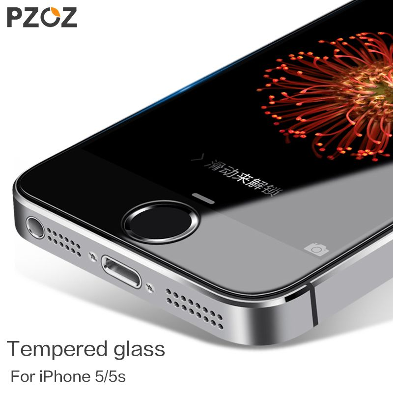 PZOZ Tempered Glass For iphone 5 Original For iphone 5S Glass Screen Protector Film Full Cover Anti Blue Light ipone 5 s
