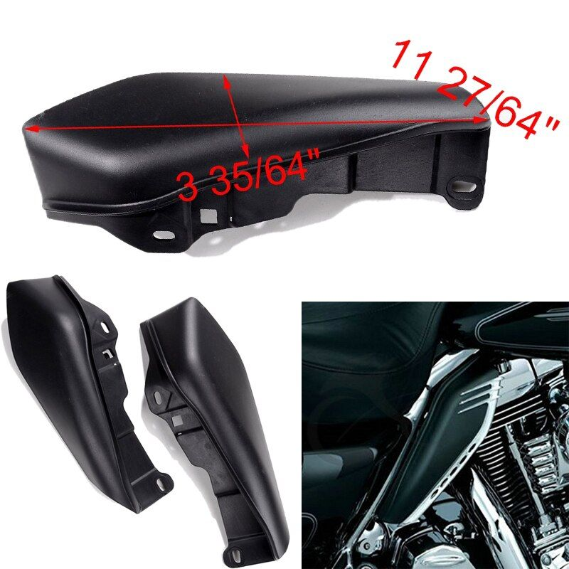 2X Black ABS Useful Air Deflectors For Harley Touring Street Glide Motorcycle Accessories