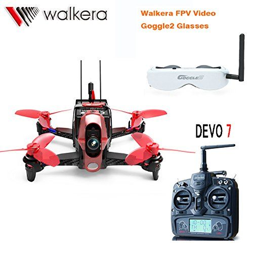 Walkera Rodeo RTF 5.8G FPV 110 110mm DEVO 7 TX RC Racing Drone Quadcopter With Head Tracker Goggle2/Charger/600TVL Camera F19845